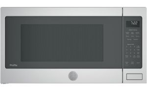 """PES7227SLSS GE 24"""" Profile Series 2.2 cu. ft. Countertop Microwave with Control Lockout and Sensor Cook - Stainless Steel"""
