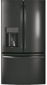 """PFD28KBLTS GE Profile 36"""" 27.8 Cu. Ft. French Door Refrigerator with Twin Chill  and Hands-Free AutoFill - Black Stainless Steel"""