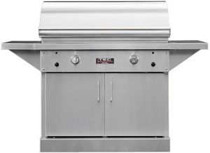 "PFR2LPCABS TEC Infrared 44"" Patio FR Series Freestanding Grill on Stainless Steel Cabinet with Rapid Preheat and Self-Cleaning Cooking Surface - Liquid Propane - Stainless Steel"