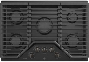 "PGP9030BMTS GE Profile Series 30"" Built-In Gas Cooktop with Precise Simmer Burner and Sealed Cooktop Burners - Black Stainless Steel"
