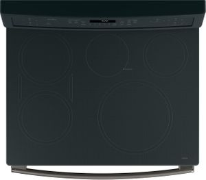 """PHB920FJDS GE Profile Series 30"""" Free-Standing Convection Range with Induction - Black Slate"""