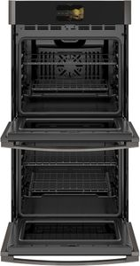 "PKD7000BNTS GE 27"" Profile Series Electric Built-In Double Wall Oven with True European Convection and Precision Temperature Probe - Black Stainless Steel"