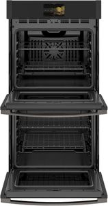 "PKD7000FNDS GE 27"" Profile Series Electric Built-In Double Wall Oven with True European Convection and Precision Temperature Probe - Black Slate"