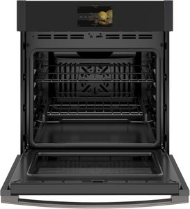 """PKS7000FNDS GE 27"""" Profile Series Single Electric Built In Wall Oven with True European Convection and Precision Temperature Probe - Black Slate"""