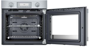 """POD301LW Thermador 30"""" Professional Single Built- In Oven  - Left Hinge - Stainless Steel with Professional Series Handle"""