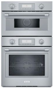 "PODMCW31W Thermador 30"" Professional Triple Built-In Combination Oven - Stainless Steel with Professional Series Handles"