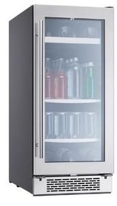 "PRB15C01AG Zephyr 15"" Presrv Single Zone Beverage Cooler with PreciseTemp and Active Cooling Technology - Stainless Steel"