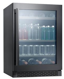 "PRB24C01ABSG Zephyr 24"" Presrv Single Zone Beverage Center with PreciseTemp and Active Cooling Technology - Black Stainless Steel"