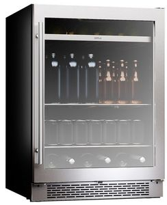 "PRB24C01BG Zephyr 24"" Presrv Single Zone Beverage Cooler with PreciseTemp and Active Cooling Technology - Stainless Steel"