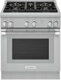 """PRD305WHU Thermador 30"""" Pro Harmony Standard Depth Dual Fuel Range with 2-Hour Self-Clean Mode and Powerful Third Element Convection Technology - Stainless Steel"""