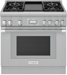 "PRD364WDHU Thermador Pro Harmony 36"" Dual Fuel Freestanding Range with 4 Burners and Griddle - Stainless Steel"