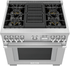 "PRD364WLGU Thermador Pro Grand 36"" Dual Fuel Freestanding Range with 4 Burners and Grill - Stainless Steel"