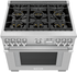 """PRD366WGU Thermador 36"""" Pro Grand Dual Fuel Freestanding Range with 6 Burners - Stainless Steel"""