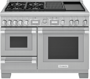 "PRD484WCGU Thermador 48"" Pro Grand Dual-Fuel Range with 4 Burners and Grill Griddle - Stainless Steel"