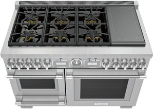 "PRD48WISGU Thermador 48"" Pro Grand Commercial Depth Dual Fuel Range with Steam and Induction - Stainless Steel"