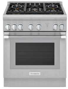 """PRG305WH Thermador 30"""" Pro Harmony Standard Depth Gas Range with 5 Star Burners and QuickClean Base - Stainless Steel"""
