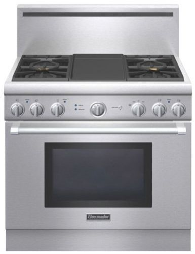 Prg364gdh Thermador 36 Pro Harmony Gas Style Range With 4 Burns And Electric Griddle Stainless Steel Code 23552 Manufacturer Model