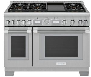 "PR486WDG Thermador 48"" Pro Grand Commercial Depth Gas Range with 6 Star Burners and Griddle - Stainless Steel"