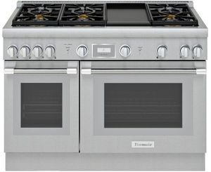 "PRG486WDH Thermador 48"" Pro Harmony Standard Depth Gas Range with 6 Star Burners and Griddle - Stainless Steel"