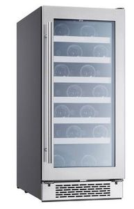 """PRW15C01AG Zephyr 15"""" Presrv Single Zone Wine Cooler with PreciseTemp and Active Cooling Technology - Stainless Steel"""