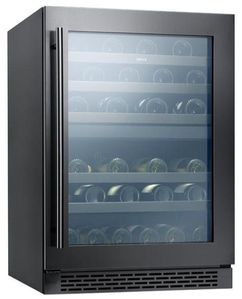 """PRW24C02ABAG Zephyr 24"""" Presrv Dual Zone Wine Cooler with PreciseTemp and Active Cooling Technology - Black Stainless Steel"""