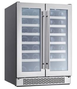 "PRW24C32AG Zephyr 24"" Presrv Dual Zone Wine Cooler with PreciseTemp and Active Cooling Technology - Stainless Steel"
