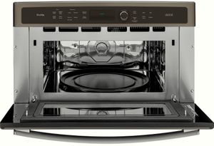 """PSB9240EFES GE 30"""" Profile Series Advantium Built-In Single Wall Oven with Halogen Heat and 1.7 cu. ft. Capacity - Slate"""