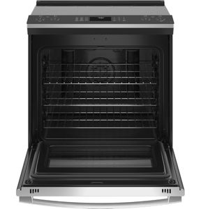 """PSS93YPFS GE 30"""" Profile Smart Slide-In Electric Range with Hot Air Frying - Fingerprint Resistant Stainless Steel"""
