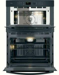 "PT7800DHBB GE Profile Series 30"" Built-In Combination Convection Microwave/Convection Wall Oven - Black"