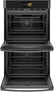 "PTD7000BNTS GE 30"" Profile Series Electric Built-In Double Wall Oven with True European Convection and Precision Cooking Modes - Black Stainless Steel"