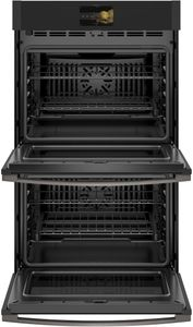 """PTD7000FNDS GE 30"""" Profile Series Electric Built-In Double Wall Oven with True European Convection and Precision Cooking Modes - Black Slate - CLEARANCE"""
