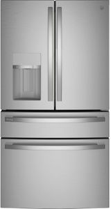 "PVD28BYNFS GE Profile 36"" Profile Series 27.6 Cu. Ft. 4 Door French Door Refrigerator with Built In Wifi and Hands-Free AutoFill - Fingerprint Resistant Stainless Steel"
