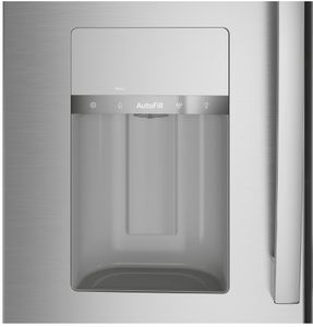"""PVD28BYNFS GE Profile 36"""" Profile Series 27.6 Cu. Ft. 4 Door French Door Refrigerator with Built In Wifi and Hands-Free AutoFill - Fingerprint Resistant Stainless Steel"""