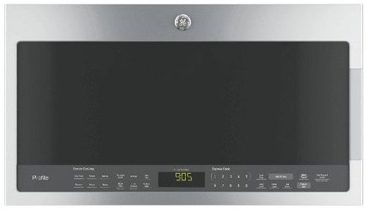 PVM9005SJSS GE Series 2.1 Cu. Ft. Over-the-Range Sensor Microwave Oven - Stainless Steel