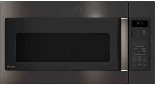 "PVM9179BLTS GE 30"" Profile Series 1.7 cu. ft. Convection Over-the-Range Microwave with 950 Watts, Chef Connect and Sensor Cooking Controls - Black Stainless Steel"