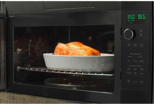 "PVM9179DKBB GE 30"" Profile Series 1.7 cu. ft. Over-the-Range Convection Microwave with 950 Watts, Chef Connect and Sensor Cooking Controls - Black"