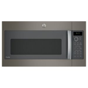 """PVM9179EKES GE 30"""" Profile Series 1.7 cu. ft. Convection Over-the-Range Microwave with 950 Watts, Chef Connect and Sensor Cooking Controls - Slate"""