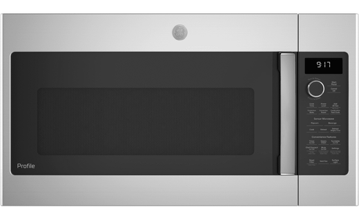 "PVM9179SKSS GE 30"" Profile Series 1.7 cu. ft. Convection Over-the-Range Microwave with 950 Watts, Chef Connect and Sensor Cooking Controls - Stainless Steel"