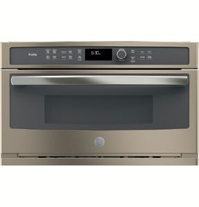 "PWB7030ELES GE 30"" Profile Series 1.7 cu. ft. Built-In Microwave/Convection Oven with Convection and Steam Sensor - Slate"