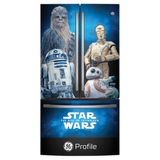 "PWE23SWNII GE Profile Limited Edition Star Wars 36"" Counter Depth 23.1 Cu. Ft. French Door Refrigerator with Internal Water Dispenser - Stainless Steel"