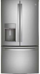 "PYE22KYNFS GE Profile 36"" Counter Depth French Door Refrigerator with Hands Free Autofill - Fingerprint Resistant Stainless Steel"