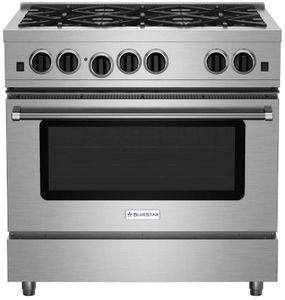 "RCS36SBV2 BlueStar 36"" RCS Series Freestanding Sealed 6 Burner Range with Infrared Boiler and Extra Large Convection Oven - Stainless Steel"