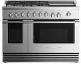 """RDV2485GDNN Fisher & Paykel 48"""" Natural Gas Dual Fuel Range with 5 Burners and Griddle - Stainless Steel"""