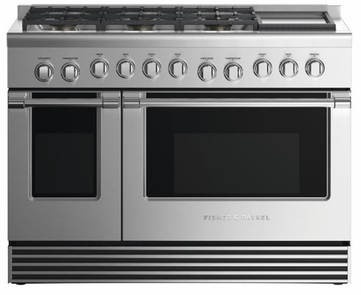 """RDV2486GDNN Fisher & Paykel 48"""" Natural Gas Dual Fuel Range with 6 Burners and Griddle - Stainless Steel"""