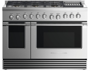"RDV2486GLNN Fisher & Paykel 48"" Natural Gas Dual Fuel Range with 6 Burners and Grill - Stainless Steel"