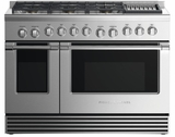 """RDV2486GLNN Fisher & Paykel 48"""" Natural Gas Dual Fuel Range with 6 Burners and Grill - Stainless Steel"""
