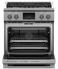 """RDV3304N Fisher & Paykel 30"""" Series 9 Professional 4 Burner Dual Fuel Range with True Convection Oven and Self Clean - Natural Gas - Stainless Steel"""