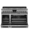 "RDV3488L Fisher & Paykel 48"" Series 9 Professional 8 Burner Dual Fuel Range with True Convection Oven and Self Clean - Liquid Propane - Stainless Steel"