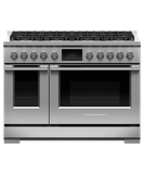 "RDV3488N Fisher & Paykel 48"" Series 9 Professional 8 Burner Dual Fuel Range with True Convection Oven and Self Clean - Natural Gas - Stainless Steel"