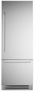 """REF30PIXR Bertazzoni 30"""" Professional Series Right Hinge Built In Bottom Mount Refrigerator with FlexMode Control and Precise Temperature Control - Stainless Steel"""